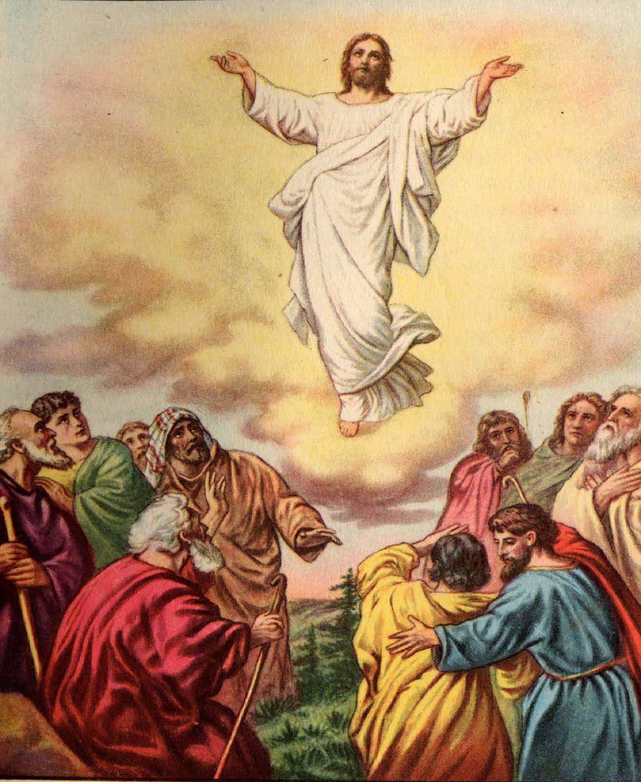 clipart of jesus ascending to heaven - photo #13
