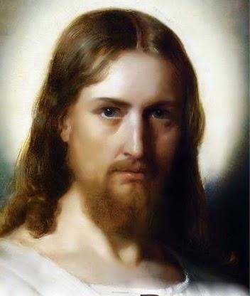 Rostro De Jesus Blanco Y Negro